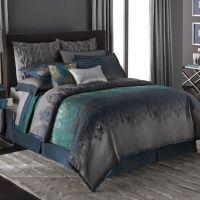Elegant style Bedroom Decor with Peacock Feather Teal ...