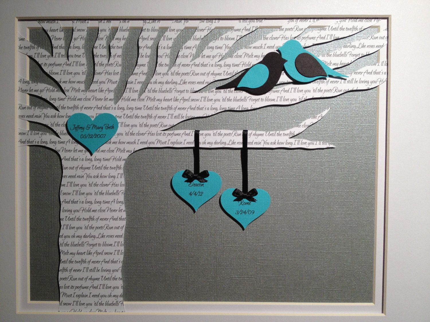 happy paper 1st year anniversary gifts 1st wedding anniversary gift First Anniversary Gift Unique Wedding Gift First Dance Song Lyrics Wedding Tree 1st Anniversary Paper Gift Wedding Vows Framed Art