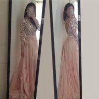 Long Lace Appliques Light Pink Prom Dresses 2016, # ...