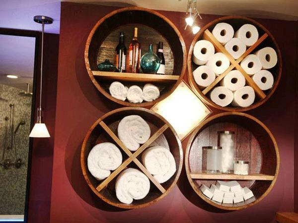 diy möbel badezimmer möbel holzfass bastelideen Wohnung - badezimmer do it yourself