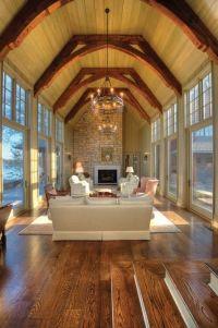 Atrium like room...love the wood rafters! #home #decor # ...