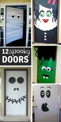 15 FUN HALLOWEEN FRONT DOORS | Doors, Decorating and ...