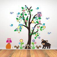 Kids Bedroom Woodland Tree Wall Sticker | Wall sticker ...