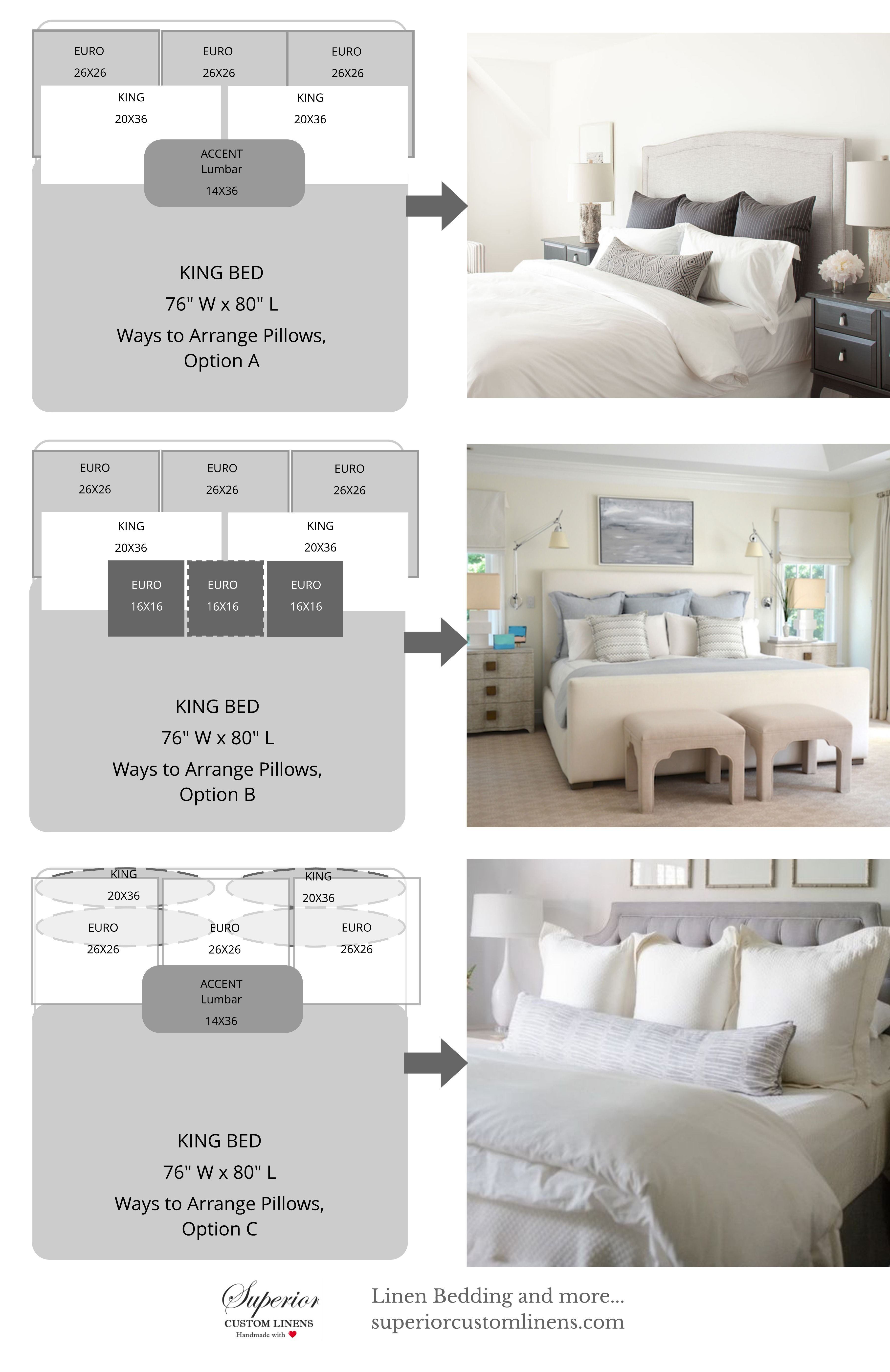 How Big Is A Queen Bed 3 Ways To Arrange Pillows On King Size Bed My Home Is