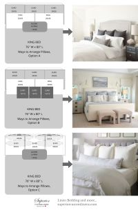 3 Ways to Arrange Pillows on King size bed. | My Home Is ...