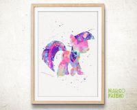 Little Pony Twilight Sparkle - Watercolor Art Print, Room ...