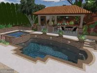 pools on a sloped lot | Swimming Pool Landscape Ideas ...