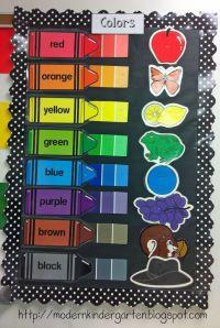 Modern Kindergarten: Classroom Decorations...like the idea ...