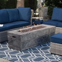 Red Ember Glacier Stone 60 in. Gas Fire Pit Table with ...