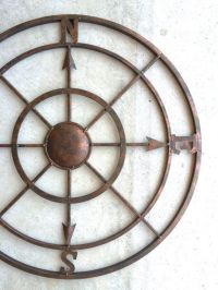 Nautical Decor Metal Compass Wall Art Compass by