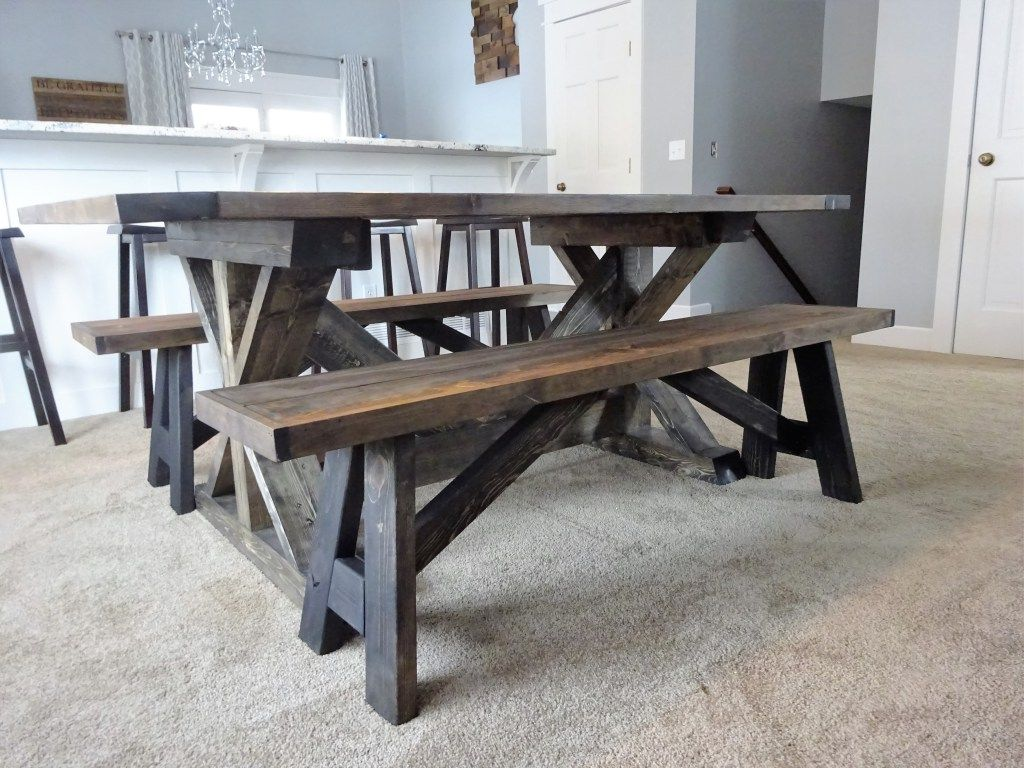 Industrial Benches For Sitting Diy Farmhouse Bench My Blog Pinterest Best Farmhouse