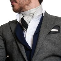 Men's Scarf Styles | Men's Silk Scarf, White Dress Scarf ...