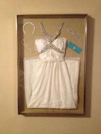 Display your wedding dress and accessories in a shadow box ...