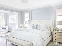 Soft Light Blue Master Bedroom with Blue Pillow Touches ...