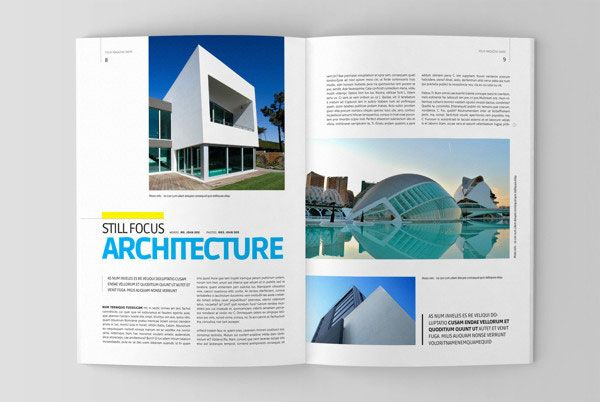 20+ Beautiful Modern Brochure Design Ideas for Your 2014 Projects - architecture brochure template