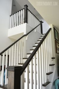Ebony stain and white craftsman stair railings | i love ...