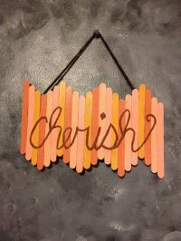 Popsicle stick wall art    Pinteres