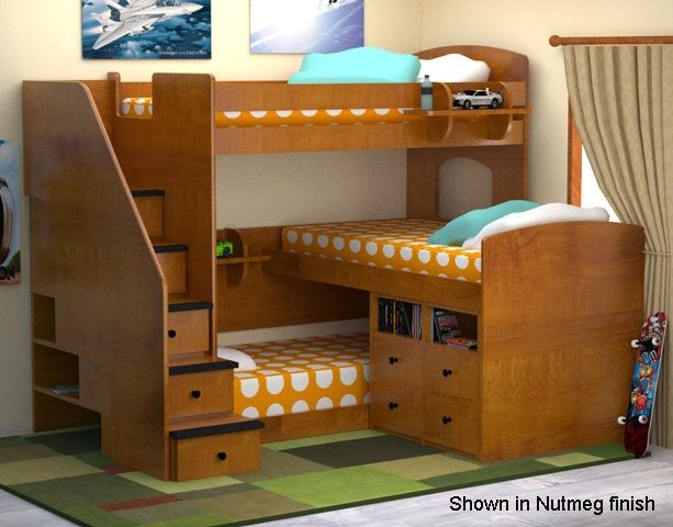 Triple Bunk Beds For Kids Triple Bunk Beds For Kids With