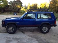 """94 jeep cherokee 3 inch lift 31"""" tires homemade roof rack ..."""