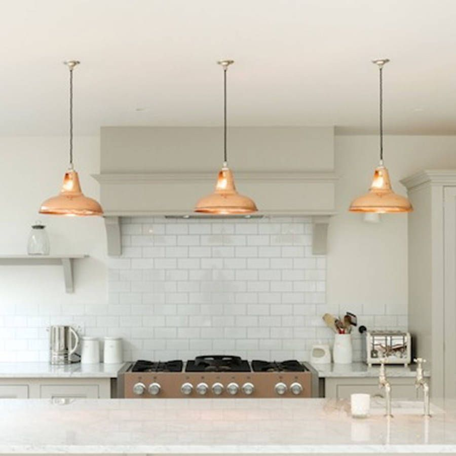 kitchen pendant lighting Coolicon Industrial Pendant Light Polished