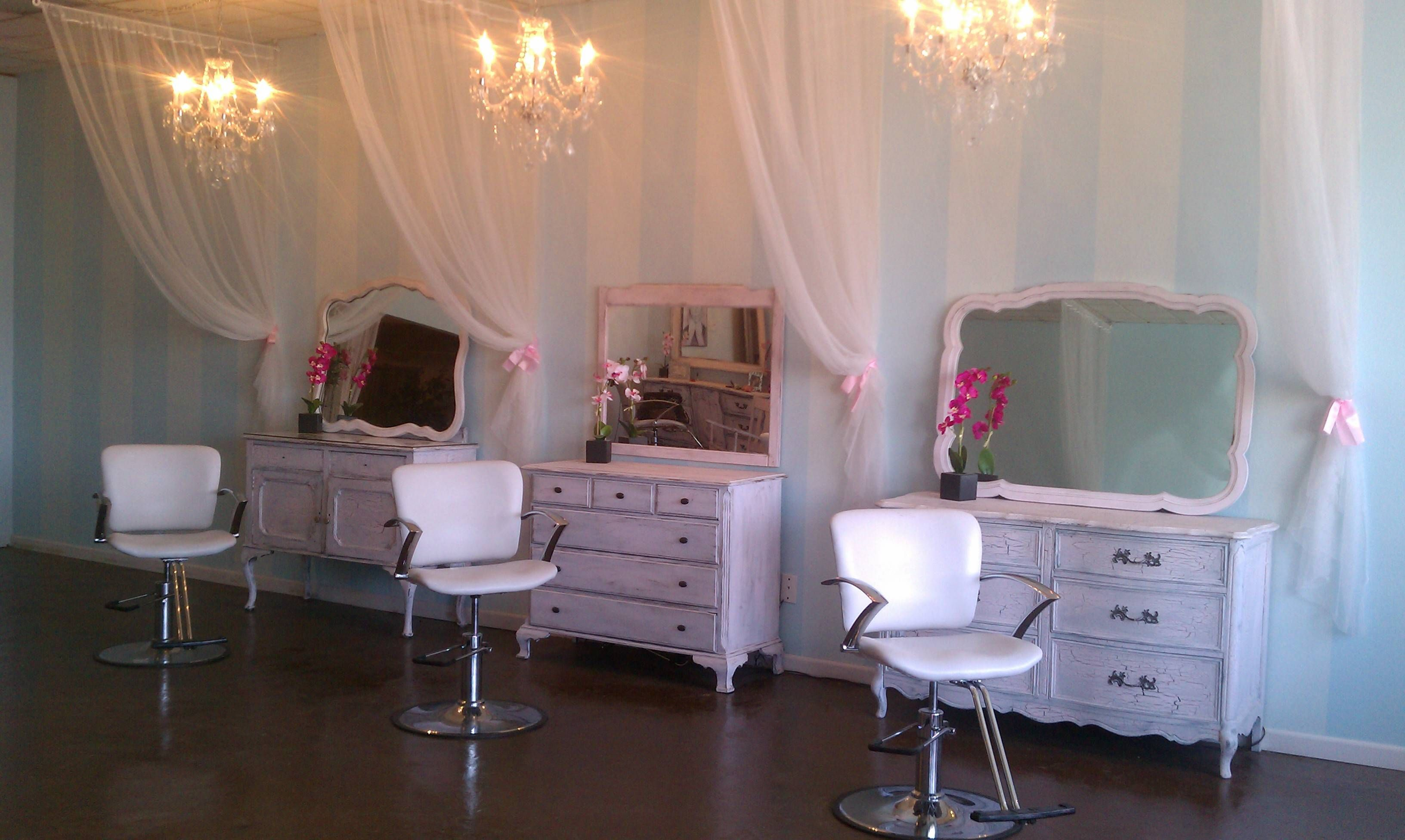 Salon Shabby Chic Using Old Dressers For Stylist Stations Salon Envy In