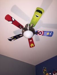 Superhero ceiling fan blades | Kids Room | Pinterest ...