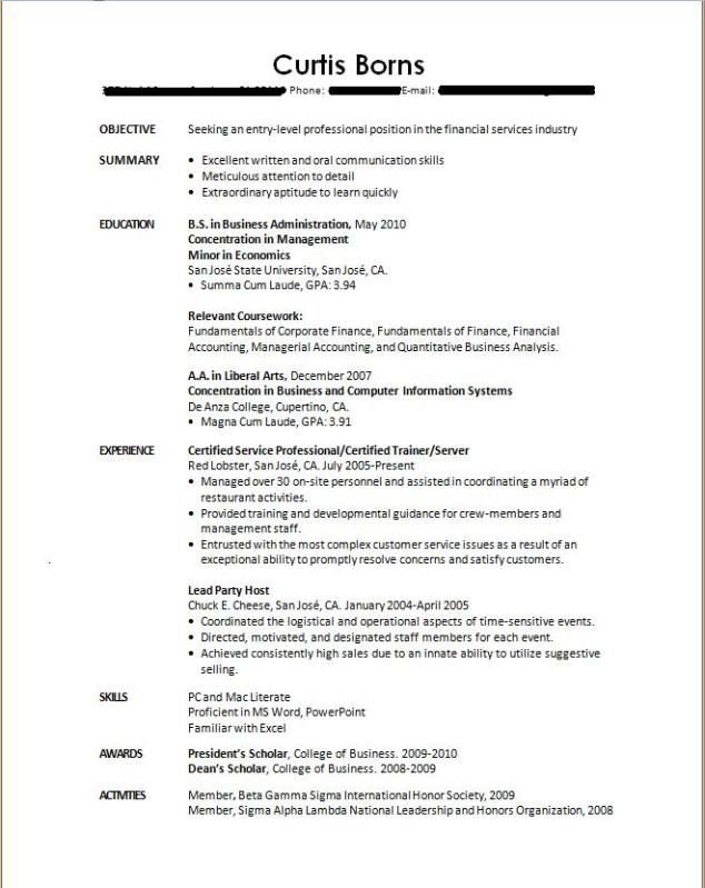 Resumes For College Students - http\/\/wwwjobresumewebsite - how to build a job resume