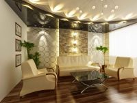 25 Elegant Ceiling Designs For Living Room | Pop false ...