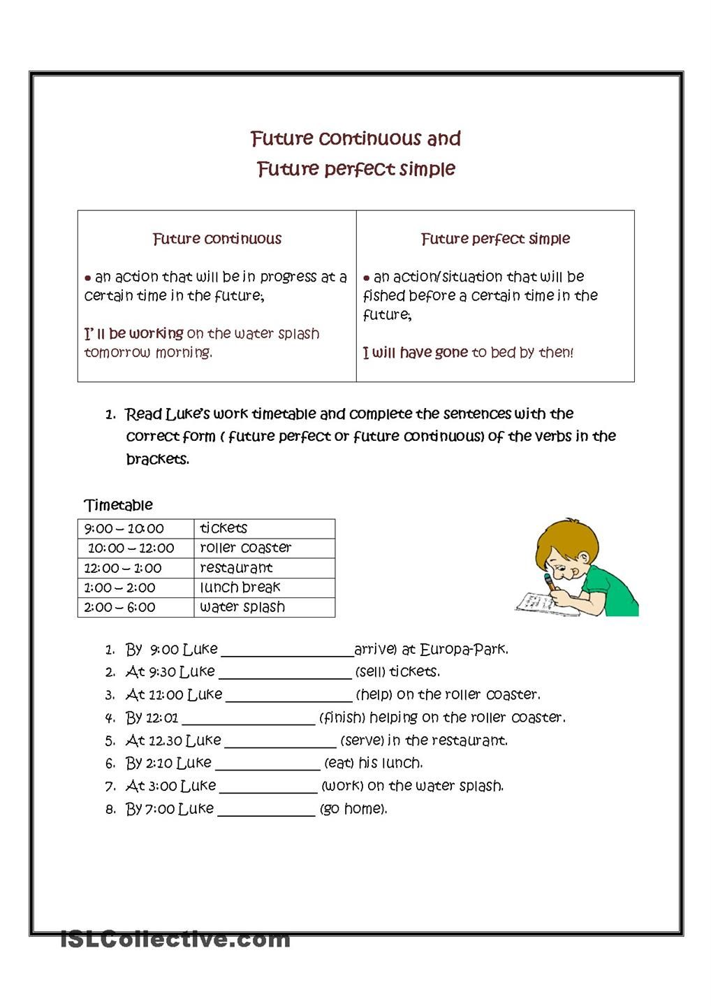 Future continuous vs future perfect simple a key future continuous tense will be v ing future perfect simple and continuous progressive tense future