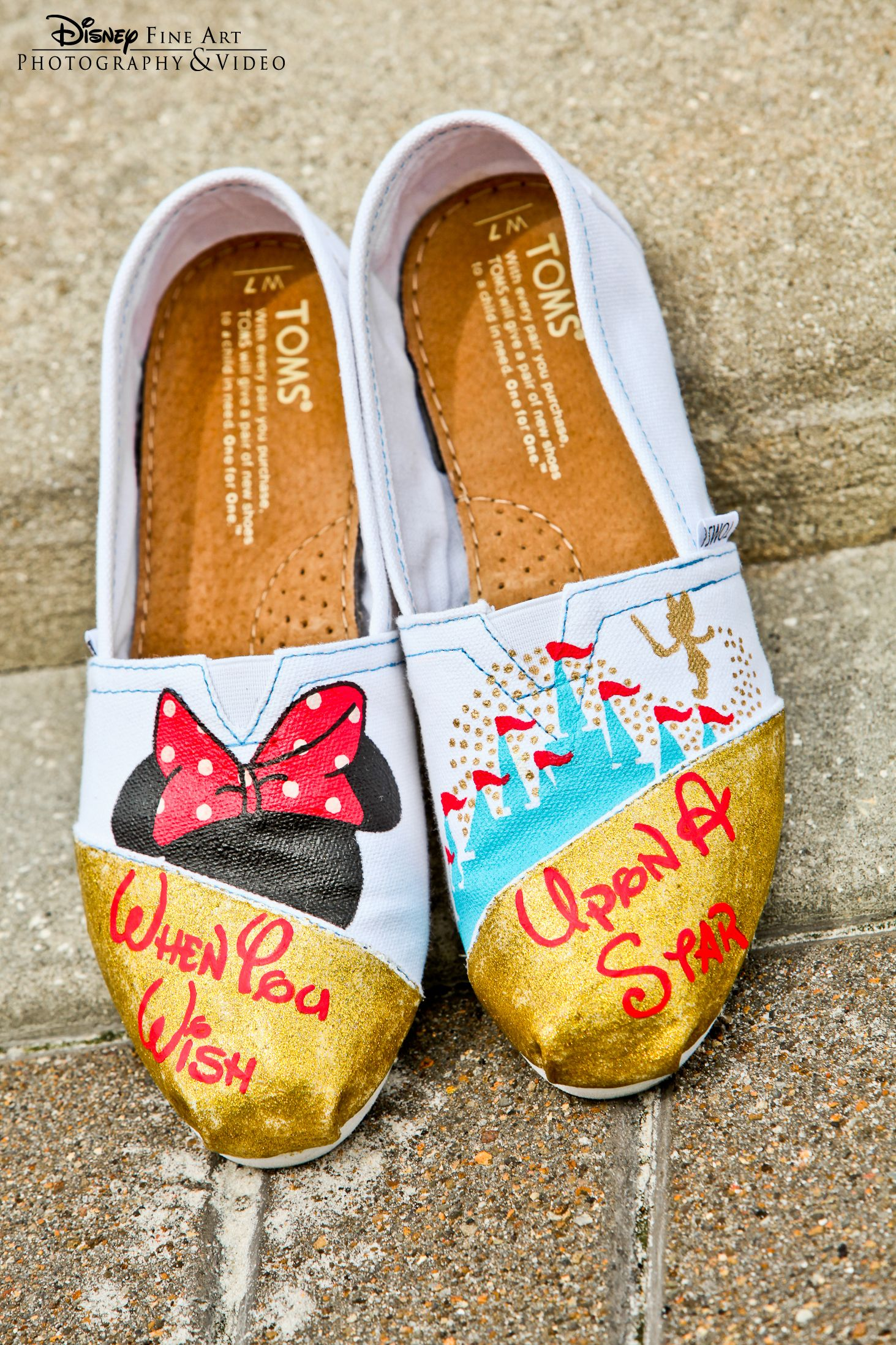 toms wedding shoes When you wish upon a star custom Disney inspired TOMS shoes Disney