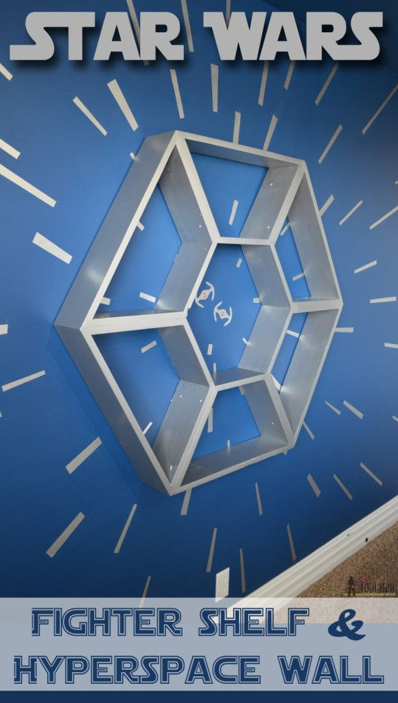 Star Wars Shelf and Hyperspace Wall Star wars bedroom, Focal - star wars bedroom ideas