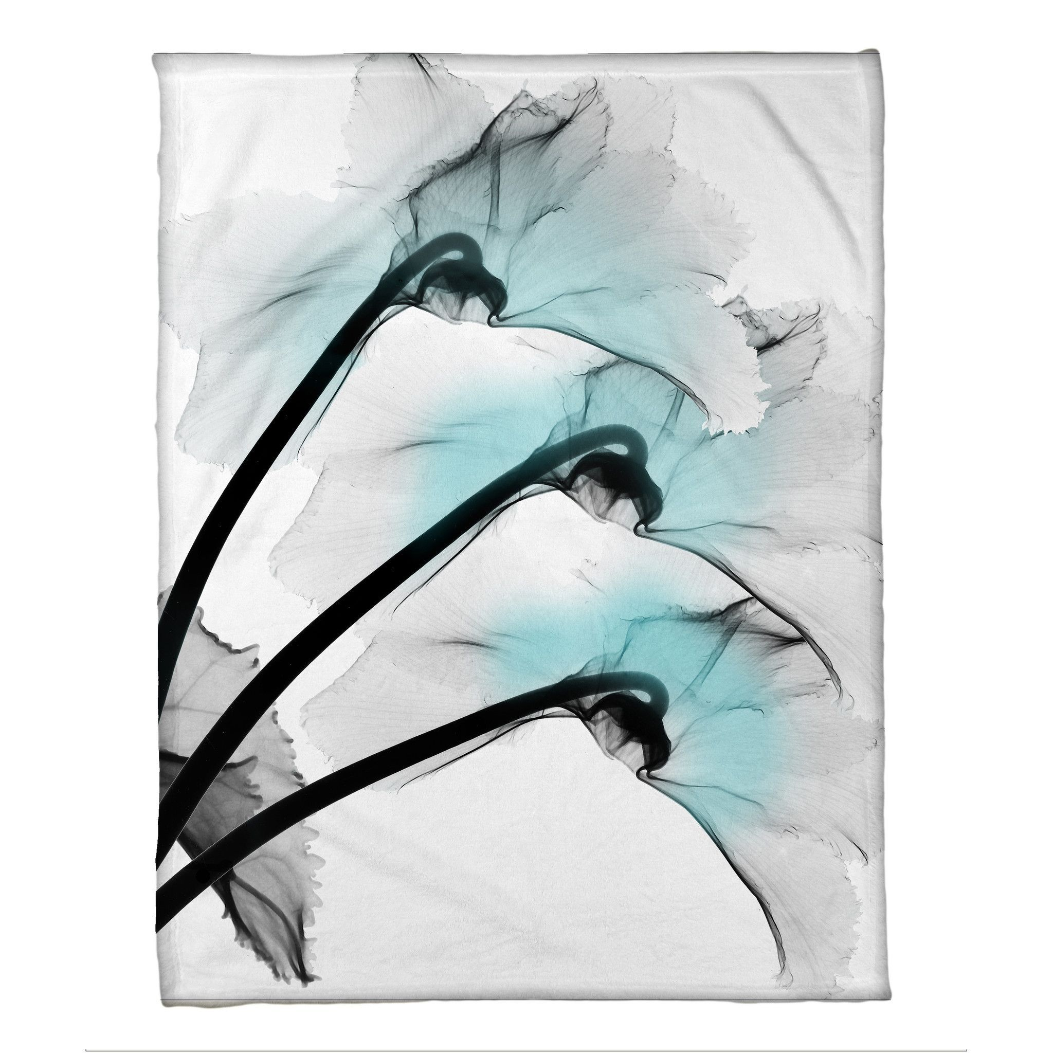 Xray Flower Prints Blue Orchid X Ray Flowers Fleece Throw Products Pinterest
