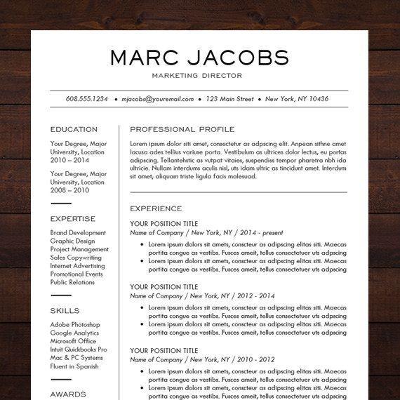 sleek modern resume