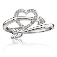 Heart & Arrow Diamond Ring in Sterling Silver | MUST ...
