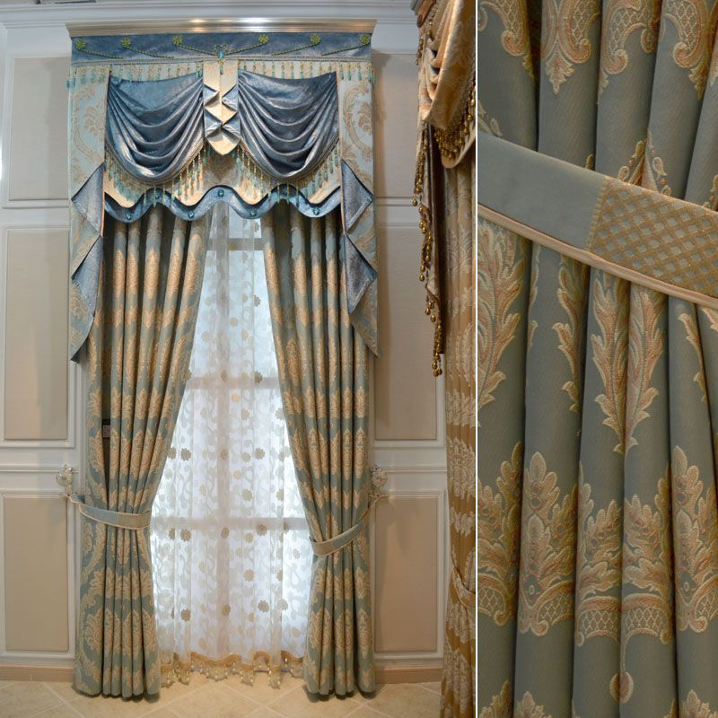 blue+white+gold+drapes House Hotel curtains for living room Gold - luxury curtains for living room