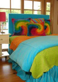 Teen bedding in bright colors and tie dye   Teen Bedroom ...