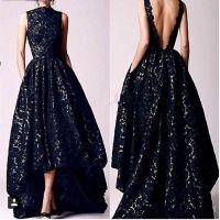Aliexpress.com : Buy 2016 Arabic Hi Low Black Prom dresses ...