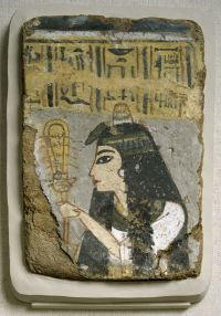 Ancient Egyptian Wall Painting: Woman Holding a Sistrum ...