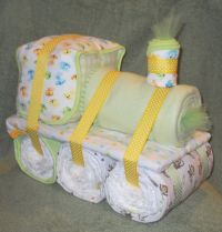 Choo Choo Train Diaper Cake for Baby Shower Centerpiece or ...