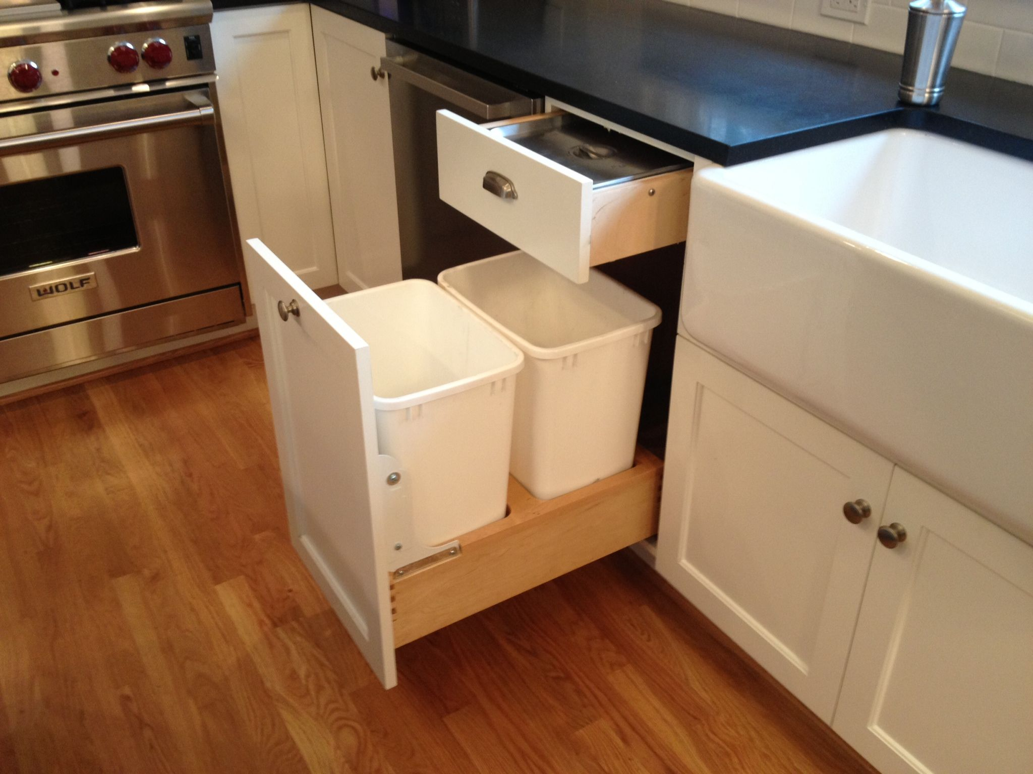 Kitchen Garbage Solutions Chef 39s Kitchen In 1920s Portland Home Storage Solutions