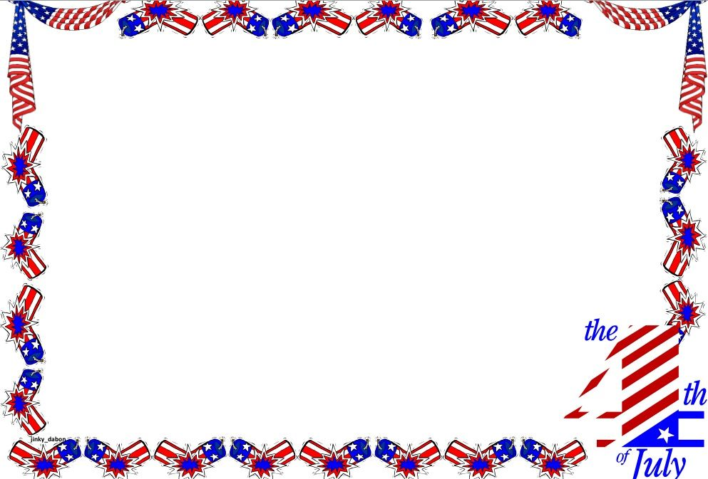 A set of Independence Day themed lined paper and page borders for - lined border paper