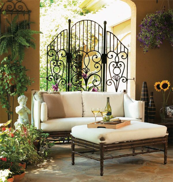wrought iron furniture for indoors