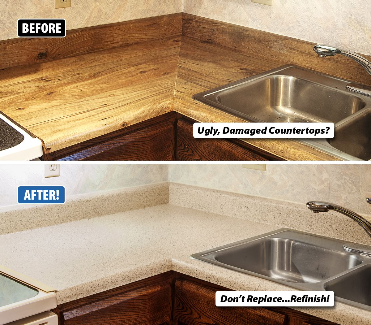 How To Repair A Chip In Granite Countertop Are Your Countertops Chipped Damaged Or Just Plain Ugly