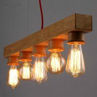 Houten hanglamp creatieve persoonlijkheid droplight cafe ...