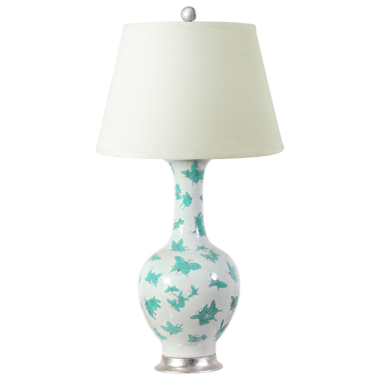 Bungalow 5 papillion turquoise table lamp base layla grayce