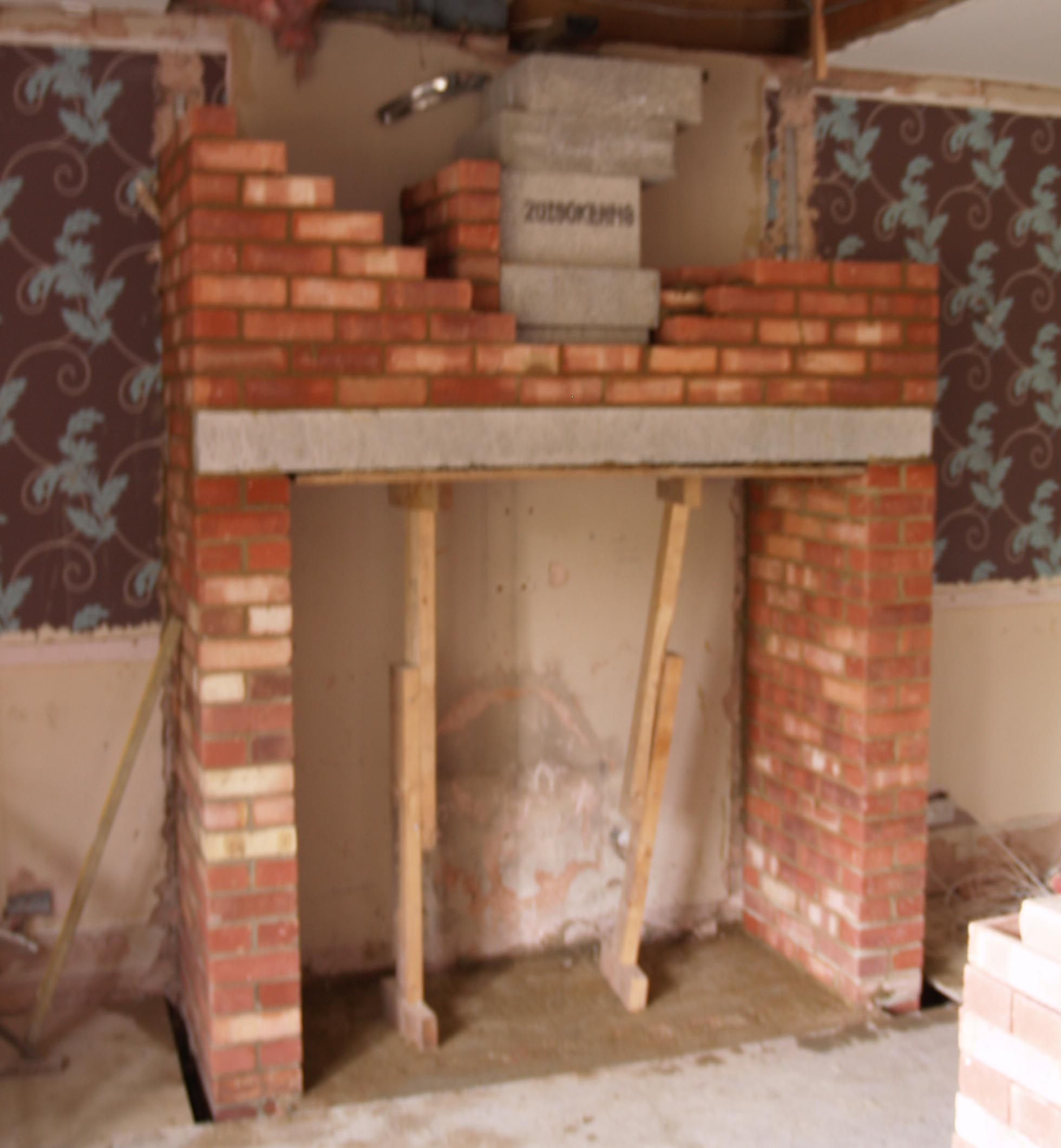 Wood Fireplace Construction New Chimney Build Using Anki Pumice Liners For A Wood