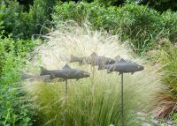 fish metal garden stakes | Home Outdoor Ornaments Art ...