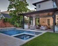 Contemporary Backyard Open Patio Small Pool | Valle ...