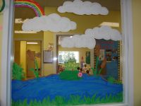 Frog Classroom Decorations | ... painted a frog on a ...