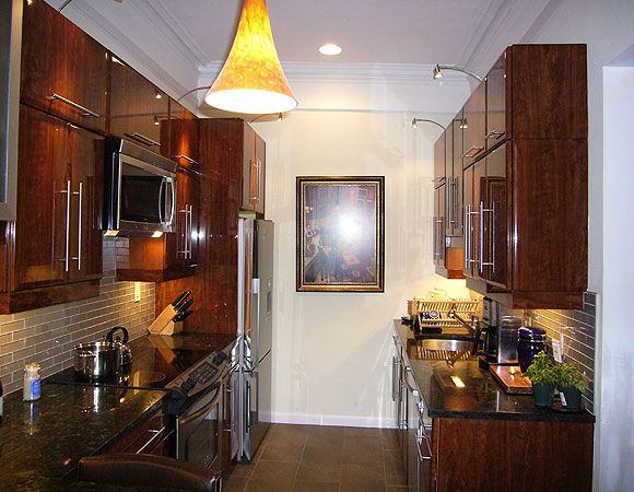 Small Galley Kitchen Makeovers Kitchen cabinetry remodeling - small galley kitchen design